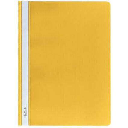 herlitz Schnellhefter, DIN A4, aus PP-Folie, gelb