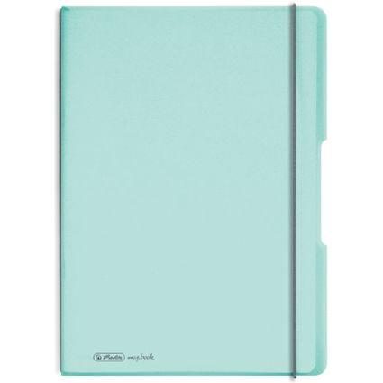 herlitz Notizheft my.book flex Pastell, A4, PP-Cover, minze-