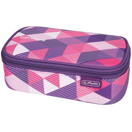 "herlitz Schlamper-Etui be.bag BEATBOX ""Purple Checked"""