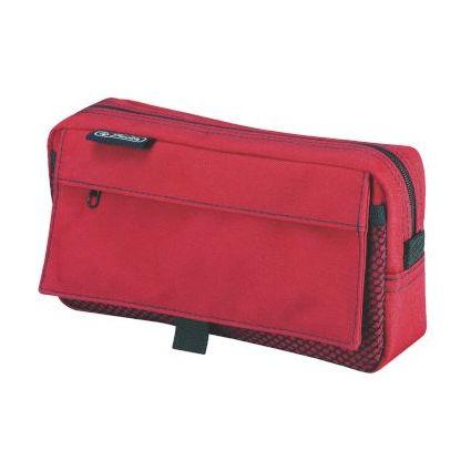 herlitz Stifte-Tasche mit Netztasche, aus Polyester, rot