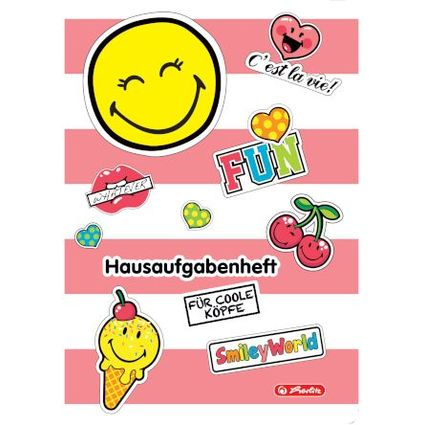 "herlitz Hausaufgabenheft SmileyWorld ""Girly"", DIN A5"