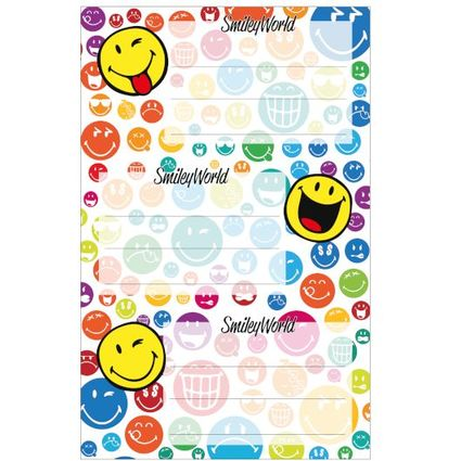 "herlitz Buchetiketten SmileyWorld ""Rainbow"", 80 x 42 mm"