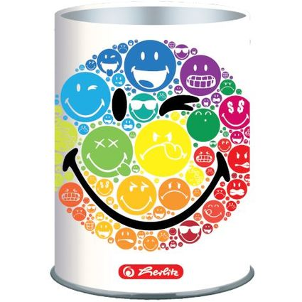 "herlitz Stifteköcher SmileyWorld ""Rainbow"", Metall"