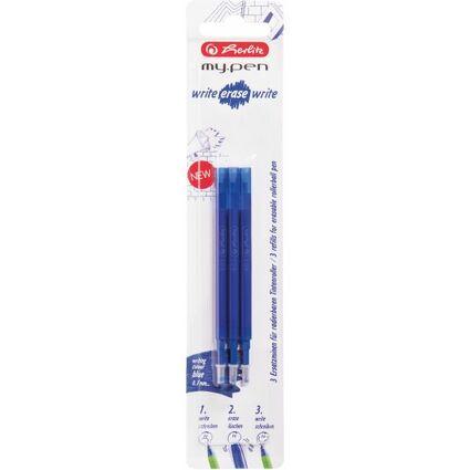 herlitz Tintenroller-Minen für my.pen - radierbar, blau