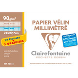 Clairefontaine Millimeterpapier, din A4, Aktionspack