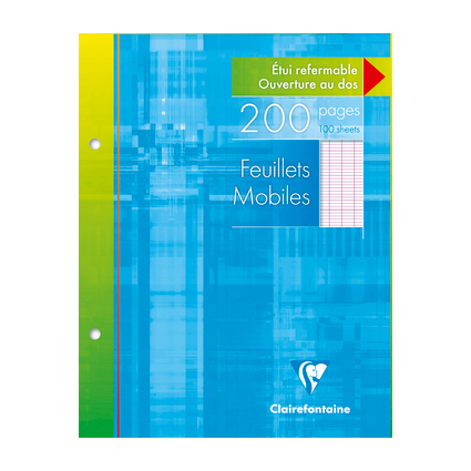 Clairefontaine Feuillets mobiles perforés, 170 x 220 mm