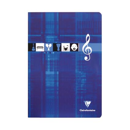 Clairefontaine Cahier piqûre Musique & Chant, A4, 48 pages
