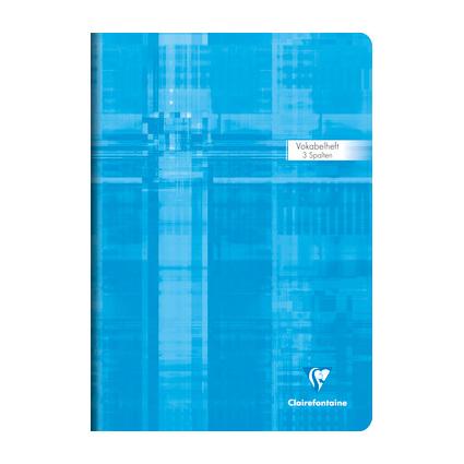 Clairefontaine Vokabelheft, DIN A4, 3-spaltig, 40 Blatt