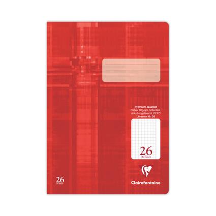 Clairefontaine Schulheft Premium, DIN A4, kariert, 16 Blatt