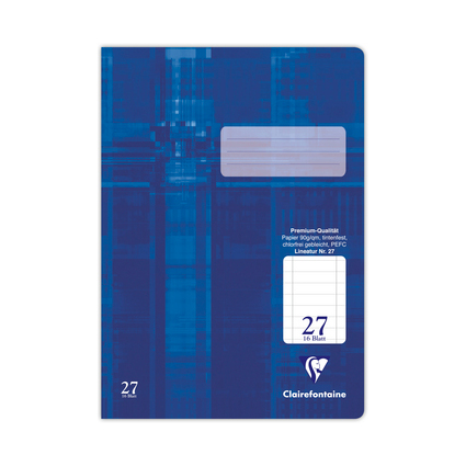 Clairefontaine Schulheft Premium, DIN A4, Lineatur 27
