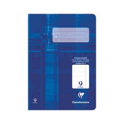 Clairefontaine Schulheft Premium, DIN A5, Lineatur 9