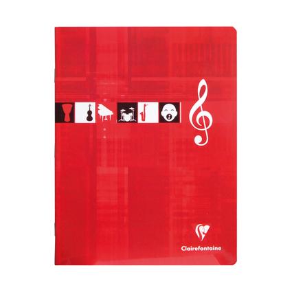 Clairefontaine Cahier piqûre Musique & Chant, 170 x 220 mm