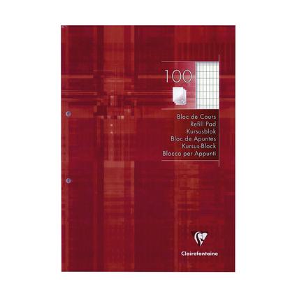 Clairefontaine Arbeitsblock, DIN A4, rautiert, 100 Blatt