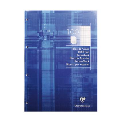 Clairefontaine Arbeitsblock, DIN A4, kariert, 100 Blatt