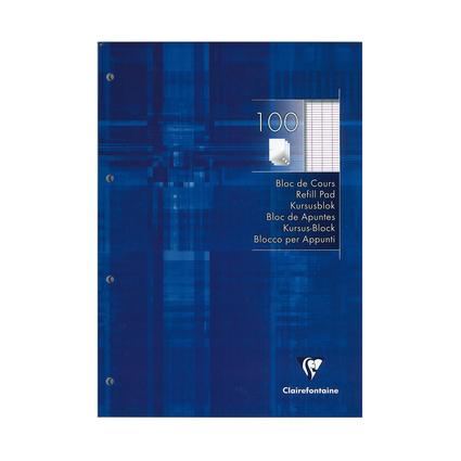Clairefontaine Arbeitsblock, DIN A4, Französische Lineatur