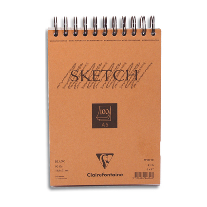 "Clairefontaine Skizzenblock ""sketch"", DIN A5, 100 Blatt"