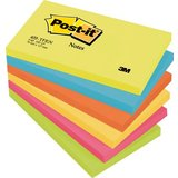 Post-it haftnotizen Active Collection, 127 x 76 mm, sortiert