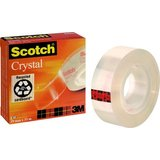 Scotch klebefilm Crystal clear 600, 19 mm x 33 m, Karton