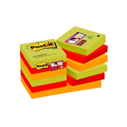 Post-it Super Sticky Notes Haftnotizen, 48 x 48 mm, Marrakes