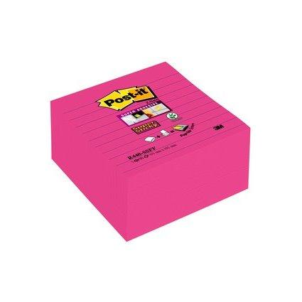 Post-it Haftnotizen Super Sticky Z-Notes, 101 x 101 mm, pink