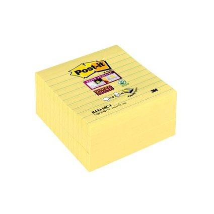 Post-it Haftnotizen Super Sticky Z-Notes, 101 x 101 mm, gelb