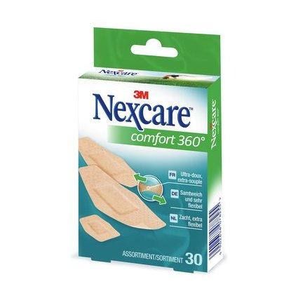 3M Nexcare Pflaster Comfort 360 Grad, 30 Streifen sortiert