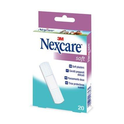 3M Nexcare Pflaster Soft, weiß, 20 Streifen à 19 x 72 mm
