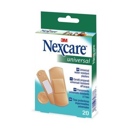 3M Nexcare Pflaster Universal, braun, 20 Streifen sortiert