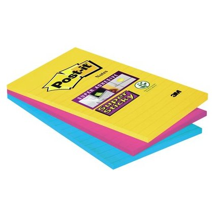 Post-it Haftnotizen Super Sticky Notes, 101 x 152 mm, Rio