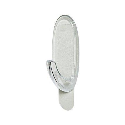 3M Command Haken oval, Kunststoff, transparent, Größe: M