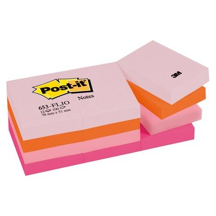 Post-it Haftnotizen Happy Collection, 51 x 38 mm, sortiert