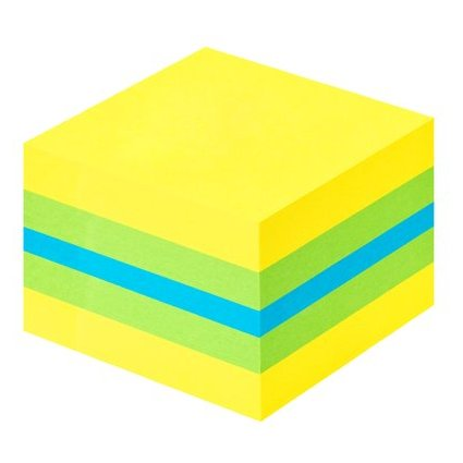 Post-it Haftnotiz-Würfel Mini, 51 x 51 mm, gelbtöne/blau