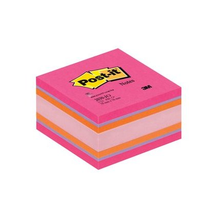 Post-it Haftnotiz-Würfel Mini, 51 x 51 mm, pinktöne/orange