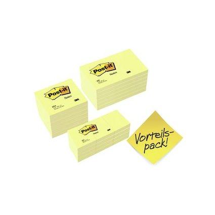 Post-it Haftnotizen, gelb, Vorteilspack