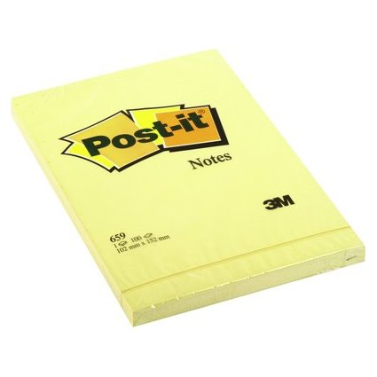 Post-it Haftnotizen, 102 x 152 mm, gelb
