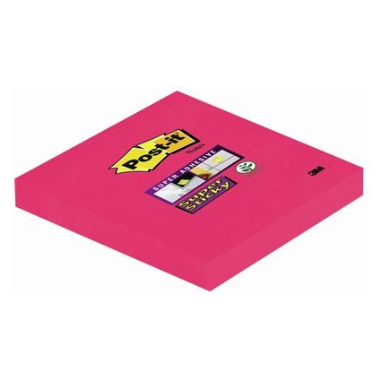 Post-it Haftnotizen Super Sticky Notes, 76 x 76 mm, mohnrot