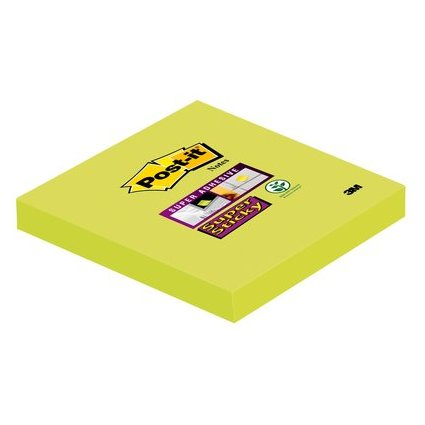 Post-it Haftnotizen Super Sticky Notes, 76 x 76 mm, lindgrün
