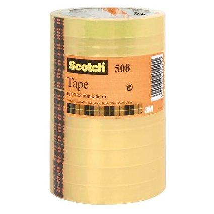 Scotch Klebefilm 508, transparent, 15 mm x 66 m