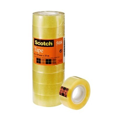 Scotch Klebefilm 508, transparent, 19 mm x 33 m