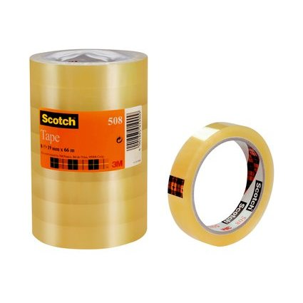 Scotch Klebefilm 508, transparent, 19 mm x 66 m