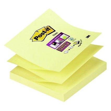 Post-it Super Sticky Z-Notes, 76 x 76 mm, kanariengelb