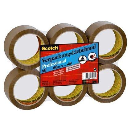 3M Scotch Verpackungsklebeband PP, 50 mm x 66 m, braun