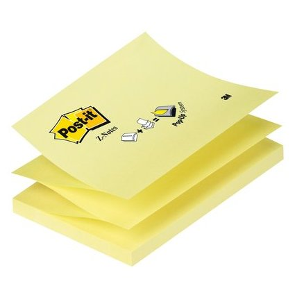 Post-it Haftnotizen Z-Notes, 127 x 76 mm, gelb