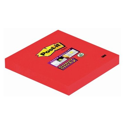Post-it Haftnotizen Super Sticky Notes, 76 x 76 mm, ultrarot