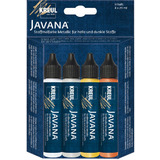 "KREUL textilfarbe JAVANA ""Metallic"", pen-set 4 x 29 ml"