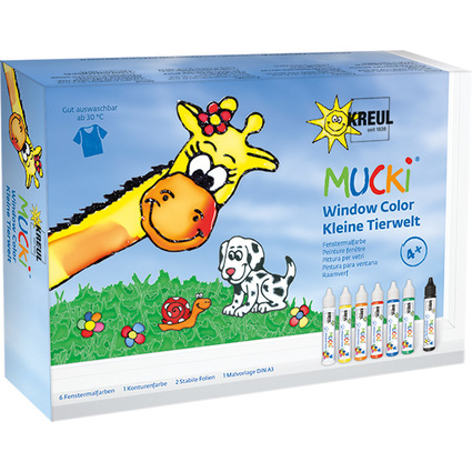 "KREUL Window Color Pen ""MUCKI"", 7er-Set"