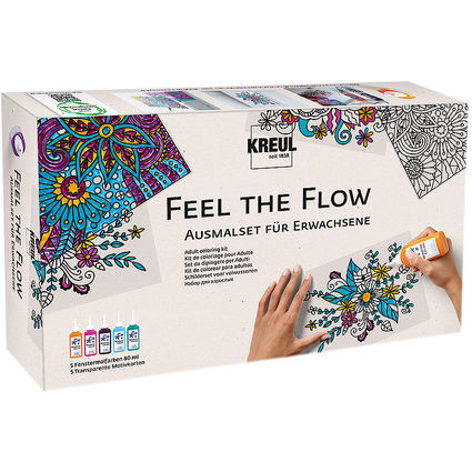 "KREUL Window Color ""Feel the Flow"", Ausmalset für Erwachsene"
