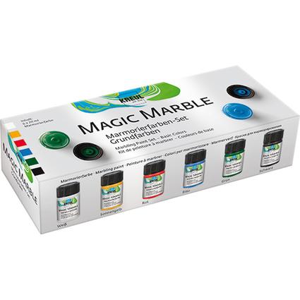 "KREUL Marmorierfarbe ""Magic Marble"", Set Grundfarben"