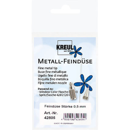 KREUL Metall-Feindüse Hobby Line, Strichstärke: 0,5 mm