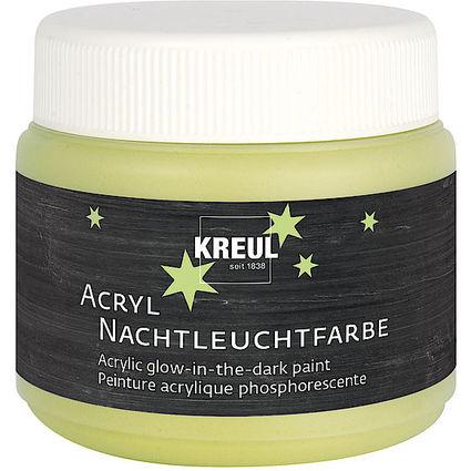 KREUL Acryl-Nachtleuchtfarbe, 150 ml, gelb
